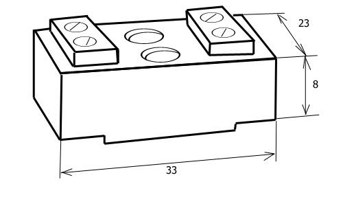 Чертеж керамической клеммнаой колодки термостойкой 2хП