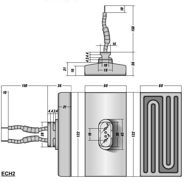 Полый керамический инфракрасный излучатель ECH2