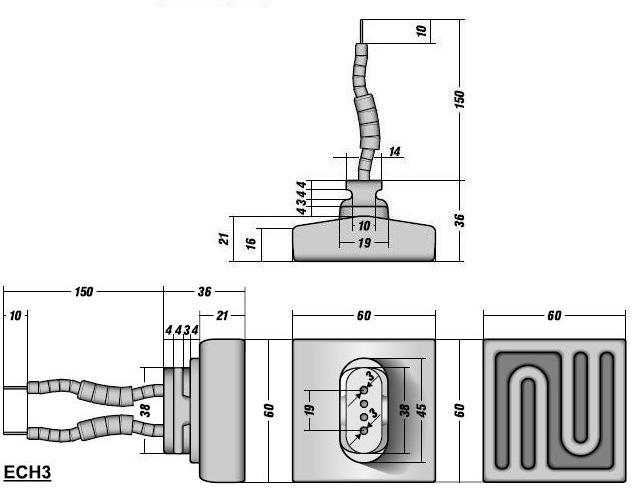 Полый керамический инфракрасный излучатель ECH3