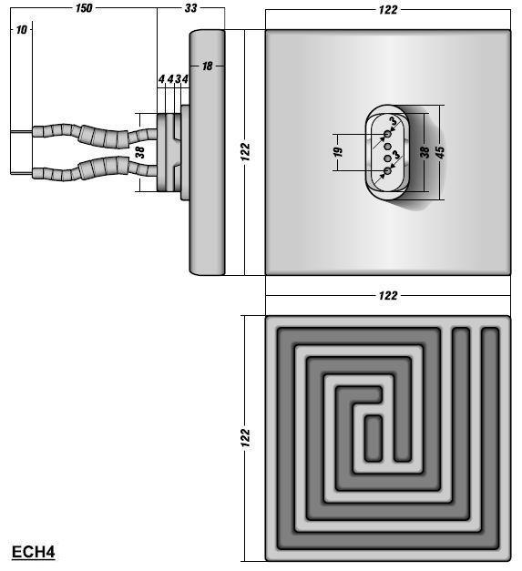 Полый Керамический Излучатель ECH4