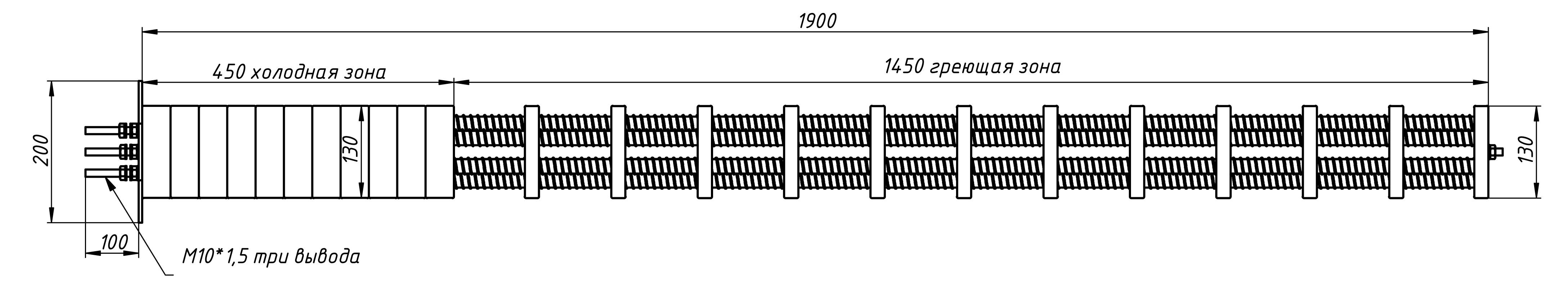 Сухой керамический ТЭН