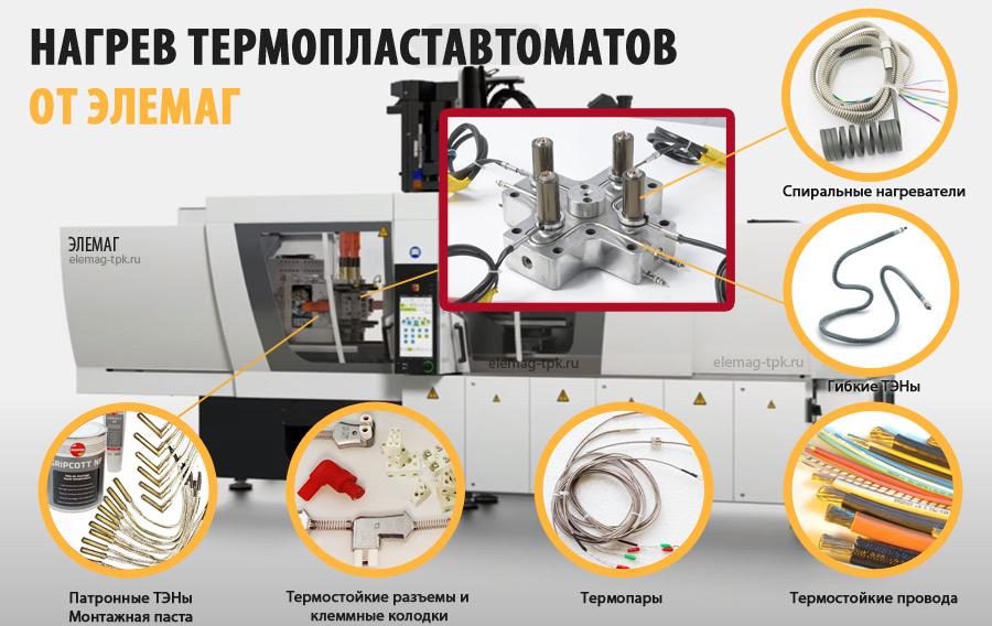 Нагреватели для термопластавтомата